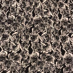 LuLaRoe Skirts - BNWT Lularoe Black and White Rose Jill Skirt